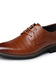 Herren Schuhe Leder Herbst Winter formale Schuhe Outdoor Schnürsenkel Für Normal Party & Festivität Schwarz Braun Blau