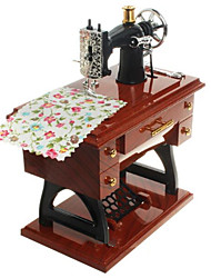 Music Box Toys Machine Sewing Machine Metal Vintage Style 1 Pieces Not Specified Birthday Christmas Children's Day Gift