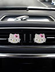 profondità della griglia della presa di aria dell'automobile una coppia hellokitty materiale della lega di zinco purificatore d'aria