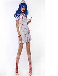 cheap -Bloody Mary Cosplay Costume Halloween Day of the Dead Festival / Holiday Halloween Costumes White Fashion