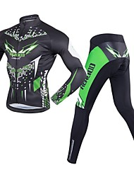 economico -Realtoo Maglia con pantaloni da ciclismo Per uomo Manica lunga Bicicletta Set di vestiti Asciugatura rapida Traspirabilità Pad 3D Elastico