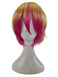 preiswerte -hairjoy Damen Synthetische Perücken Kurz Gerade Gold Pink Gefärbte Haarspitzen (Ombré Hair) Cosplay Perücke Party-Perücke Kostümperücke