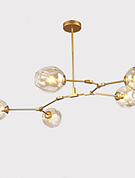 cheap -Northern Europe Vintage Chandelier 5 heads Glass Molecules Pendant Lights Living Room Bedroom Dining Room Chandeliers
