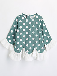 Tee-shirts Fille A pois Coton Automne Manches longues