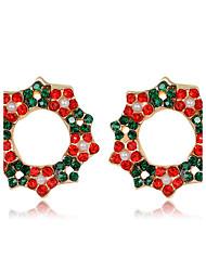 Недорогие -Жен. Детские Серьги-гвоздики С цветами Цветочный дизайн Цветы Мода Рождество Стразы Сплав Цветы Бижутерия Рождество Новый год Бижутерия