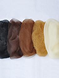 100pcs / lot 5mm rete di nylon invisibile per capelli usa e getta 20d nero marrone scuro marrone medio marrone chiaro beige