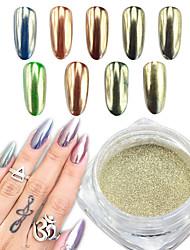 0.5g / specchio d'argento dello specchio d'argento effetto del chiodo arte polvere di pigmento glitter cromo