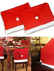 1pcs Santa Clause Red Hat Chair Back Covers Christmas Ornament Beter Gifts®
