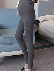 economico -Da donna A vita bassa Casual Elasticizzato magro Taglia piccola Pantaloni,Tinta unita Cotone Inverno Autunno