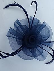 economico -copricapo rete piuma copricapo veli stile elegante