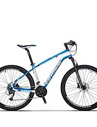 Mountain Bike Cycling 27 Speed 27.5 Inch SHIMANO M370-3/9 Disc Brake Suspension Fork Steel Frame Carbon Anti-slip Aluminium AlloyCarbon