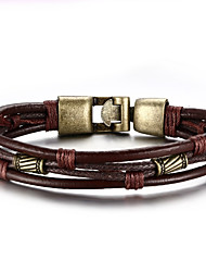 cheap -Men's Leather Bracelet Hip-Hop Rock Leather Titanium Steel Line Jewelry For Party Birthday Gift Evening Party