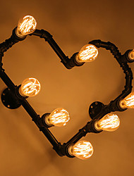 cheap -Nordic Conduit Romantic Lamp Wall Lamp Wall Lamp Light Heart Love Heart Personality Prop Wrought Iron Red Hearts
