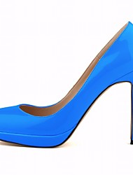 cheap -Women's Shoes Patent Leather Summer Basic Pump Heels Stiletto Heel Pointed Toe For Outdoor Dress Blue Red Fuchsia
