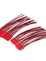 10pairs 2pin jst connettore maschio femmina 100mm