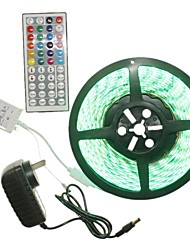5m 300x5050led strip light sets não impermeável rgb 44 chave controlador ac100-240v au / eu / us / uk power plug dc12v 2a
