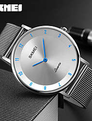 SKMEI Men's Dress Watch Fashion Watch Quartz Water Resistant / Water Proof Stainless Steel Band Charm Luxury Cool Casual Silver