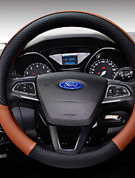cheap -Steering Wheel Covers Leather 38cm Coffee / Black / Purple / Black / White For Ford Focus / Escort / Fiesta All years