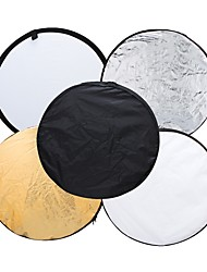 Andoer 43 110cm Disc 5 in 1 (Gold Silver White Black Translucent) Multi Portable Collapsible Photography Studio Photo Light Reflector