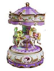 Boîte à musique Jouets Cheval Carrousel Dessin Animé Plastique Romantique 1 Pièces Non spécifié Anniversaire Cadeau