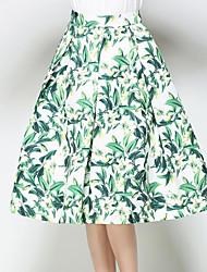 abordables -Mujer Línea A Faldas - Estampado, A Lunares
