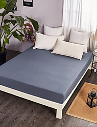 cheap -Flat Sheet - Poly / Cotton Printed Solid Colored 1pc Flat Sheet