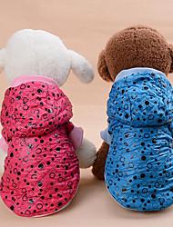 Dog Coat Dog Clothes Casual/Daily Keep Warm Polka Dots Blue Red