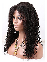 Women Human Hair Lace Wig Brazilian Human Hair 360 Frontal 180% Density With Baby Hair Curly Kinky Curly Wig Black Medium Brown Dark