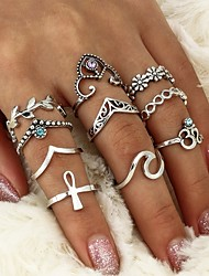 cheap -Women's Crystal Rhinestone Crystal Alloy Leaf - Leaf Waves Geometric Cross For Casual Formal