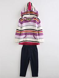 Ensembles Fille Arc-en-ciel Coton Automne Manches longues Ensemble de Vêtements