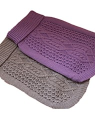 cheap -Dog Sweater Dog Clothes Casual/Daily Geometric Purple Gray
