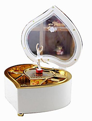 cheap -Music Box Cartoon Heart Dancing Rotating Unisex Gift