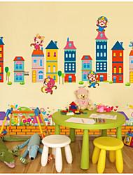 Architecture Stickers muraux Autocollants avion Autocollants muraux décoratifs,Papier Matériel Décoration d'intérieur Calque Mural