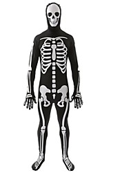 Skeleton/Skull Ghost Zombie Cosplay Costumes Male Halloween Day of the Dead Festival/Holiday Halloween Costumes Black Fashion