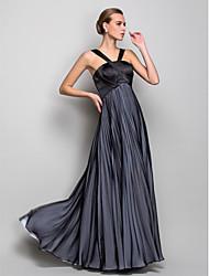 Linea-A All'americana Lungo Chiffon Serata formale Ballo militare Vestito con A incrocio A pieghe di TS Couture®