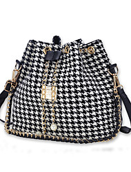 cheap -Women's Bags Canvas Shoulder Bag for Shopping White / Black
