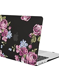 economico -MacBook Custodia per MacBook Air 13 pollici MacBook Air 11 pollici MacBook Pro 13 pollici con display Retina Fiore decorativo TPU