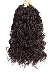 economico -Trecce Twist 3pcs / pack Trecce di capelli Senegal Riccio Treccine a boccoli 35cm 100% capelli kanekalon Sintetico Nero / Strawberry