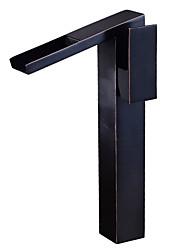 baratos -Torneira pia do banheiro - Cascata Bronze Polido a Óleo Conjunto Central Monocomando e Uma Abertura