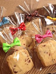 Недорогие -50шт лук узелок печенья мешок герметик выпечки хлеба леденец торт пакет разных цветов