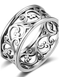 Недорогие -Жен. Классические кольца Геометрический Стерлинговое серебро Геометрической формы Бижутерия Назначение Повседневные На выход