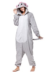 cheap -Kigurumi Pajamas Elephant Onesie Pajamas Costume Flannel Toison Gray Cosplay For Adults' Animal Sleepwear Cartoon Halloween Festival /