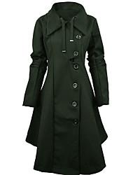baratos -Mulheres Tamanhos Grandes Casaco Para Noite Vintage / Moda de Rua - Sólido, Algodão Peplum