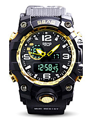 Men's Kid's Sport Watch Fashion Watch Wrist watch Quartz LCD Calendar Water Resistant / Water Proof Dual Time Zones Stopwatch Silicone