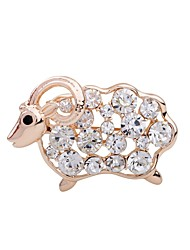 cheap -Women's / Girls' Adorable Sheep Rhinestone Rhinestone Brooches - Animal Design Champagne Brooch For Party / Stage