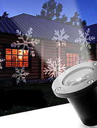 cheap -LED Snowflake 12W Outdoor Lawn Snowflake Lamp AC100-240V Cool White 1Pcs