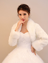 cheap -Faux Fur Wedding Party / Evening Women's Wrap With Pattern / Print Polka Dot Patterned Shrugs