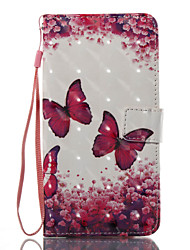 cheap -For Case Cover Card Holder Wallet with Stand Flip Pattern Full Body Case Butterfly Hard PU Leather for Samsung Galaxy J7 (2016) J7 (2017)