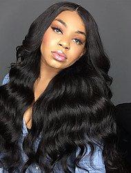 cheap -Human Hair Full Lace Wig Malaysian Hair Body Wave With Baby Hair 150% Density African American Wig Natural Hairline Long Women's Human