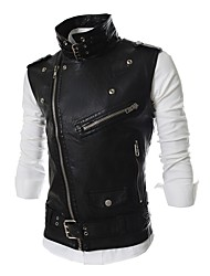 Men's Casual/Daily Simple Active Fall Winter VestSolid Shirt Collar Sleeveless Regular Cotton